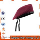 Kundenspezifisches Stickerei-Armee-Wolle-Barett-Militärbarett-Schutzkappen