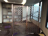 Cinco pantalla decorativa superficial aplicada con brocha del acero inoxidable de la buena calidad del restaurante 304 del hotel de la estrella