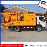 Betoniera Gemellare-Sharft montata camion elettrico con la pompa