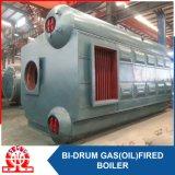 Caldera de agua caliente de fuel del gas doble del tambor