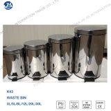 Bote de basura lleno del acero inoxidable de la alta calidad 30L