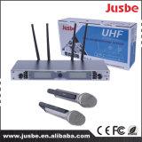 生演奏ショーの使用のマイクロフォンデュアル・チャネルUHFの専門の無線マイクロフォン