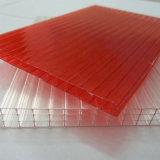 Feuille antibrouillard de cavité de polycarbonate de Multi-Mur d'enduit UV pour la serre chaude