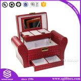 Caixa de presente de jóias de couro de moda de luxo