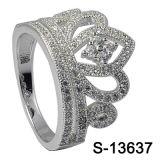 جديدة وصول تاج تصميم 925 فضة مجوهرات حلقة بيع بالجملة