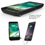 8000mAh uitgebreid het Laden van de Batterij van de Bank van de Macht van het Geval van de Lader van de Batterij Navulbaar Geval voor iPhone 7 plus