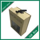 Оптовая изготовленный на заказ роскошная бумажная коробка подарка с окном PVC