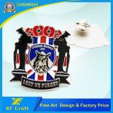 Preiswertes kundenspezifisches Metalleisen, das Decklack-Abzeichen für Andenken/Förderung (XF-BG41, stempelt)