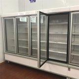 De rechte Koelere Ijskast van de Vertoning van de Luchtkoeling van de Supermarkt van de Deur van het Glas