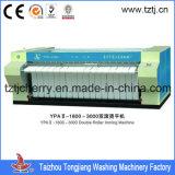 敷布またはキルトカバーまたはテーブルクロスのための単一か二重または3つのローラーアイロンをかける機械