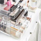 Organizador de acrílico claro del maquillaje con 5/6/7 de los cajones