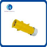 Cee 16A 230Vの青3ピン産業パネルによって取付けられるプラグ