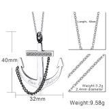 Шкентель ожерелья типа пирата цепи веревочки анкера людей, ожерелье способа нержавеющей стали панковское