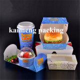 Pacote Kraft de qualidade alimentar Caixa de recipiente de papel descartável (caixa de recipiente de papel)