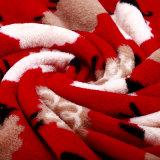 Couverture rouge de bébé d'ouatine de flanelle en ventes