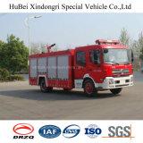 água de 8ton Dongfeng e tipo euro 4 do tanque da espuma do caminhão do motor da luta contra o incêndio