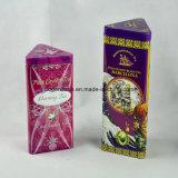 Изготовленный на заказ коробка олова чая металла формы пирамидки с политурой качества еды