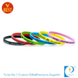 Wristband alla moda del vinile del ODM del commercio all'ingrosso su ordinazione
