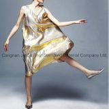 Folha de carimbo quente holográfica do ouro/tira para o vestido bonito