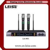 Microphone Multi-Freqency de radio de fréquence ultra-haute des canaux Ls-993 doubles