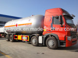 中国の良質35cbm 15mt HOWO 8X4 LPGのガス配達タンクトラック
