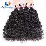 ペルーのバージンの毛水波は4つの束の取り引きの安いペルーの毛ミンク水波のバージンの毛の巻き毛の織り方の人間の毛髪を束ねる