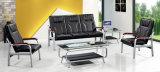 주식 1+1+3에 있는 최신 판매 고아한 디자인 가죽 사무실 소파 기다리는 소파