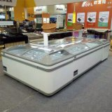 Горизонтальный замораживатель шкафа Diplay острова для супермаркета