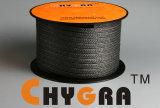 Embalagem trançada de fibra de grafite de PTFE forte forte (conteúdo de grafite: 25%)