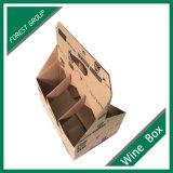 Фабрика изготовленный на заказ Brown коробка пакета бутылки вина 6 пакетов