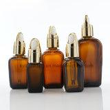frasco de petróleo 50ml essencial quadrado ambarino com conta-gotas das cestas