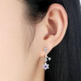 925 de echte Zilveren Bloem van Juwelen Dame Earrings