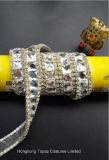 El cristal de la suposición de la ropa de 2017 maneras rebordea el ajuste de cristal de cadena del Rhinestone con el encadenamiento (TS-048)