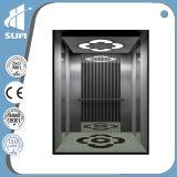 Velocidade 1.5m/S com o elevador do passageiro do aço inoxidável do quarto 304 da máquina