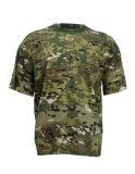 camiseta reactiva de Camo de la impresión de 95%Cotton 5%Spandex al aire libre