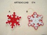Tessuto Snowflake-2assorted dell'ornamento della decorazione dell'albero di Natale