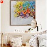 Pintura al óleo colorida del árbol del arte hecho a mano abstracto de la pared