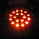 CE RoHS disco equipo 18X12W LED PAR puede acercar etapa de la luz