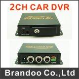소형 SD 카드 차 이동할 수 있는 움직임 탐지 2CH 차 DVR 12V
