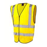 Visibilidade elevada amarela reflexiva para a veste da segurança do trabalhador