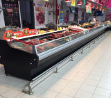Auto Defrost Display Supermarket Fresh Seafood Meat Chiller/Cooler