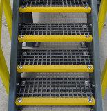 FRP/GRP Anti-Slip 층계 보행 Anti-Slip 계단에 의하여 주조되는 격자판