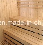 sauna di legno solido di rettangolo di 2400mm per 6 persone con le feci di doppio strato (AT-8640)