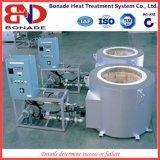 Crisol del horno de fusión de aluminio Tipo de gas del horno de fusión de 600 Kg