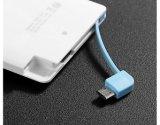 Carregador personalizado venda por atacado do banco da potência do cartão de crédito 2600mAh para a amostra livre