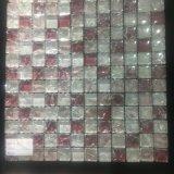 Rotes Eis-gebrochene Glasmosaik-Fliese