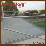 Exterior de alumínio U Channel Frameless Glass Railing for Balcony (SJ-X1072)