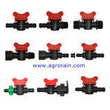 Agricultura Irrigação PE Tubo Barb Adptor Mini Válvula 16X16