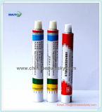 Pharmazeutisches Verpacken-kosmetisches Sahnezahnpasta-Haut-Sorgfalt-leeres zusammenklappbares Aluminiumgefäß