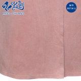 لون قرنفل [رووند-كلّر] طويلة كم جيب نمو سيدات ثوب